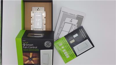 GE Z Wave Wireless Smart Fan Speed Control 3 Speed In