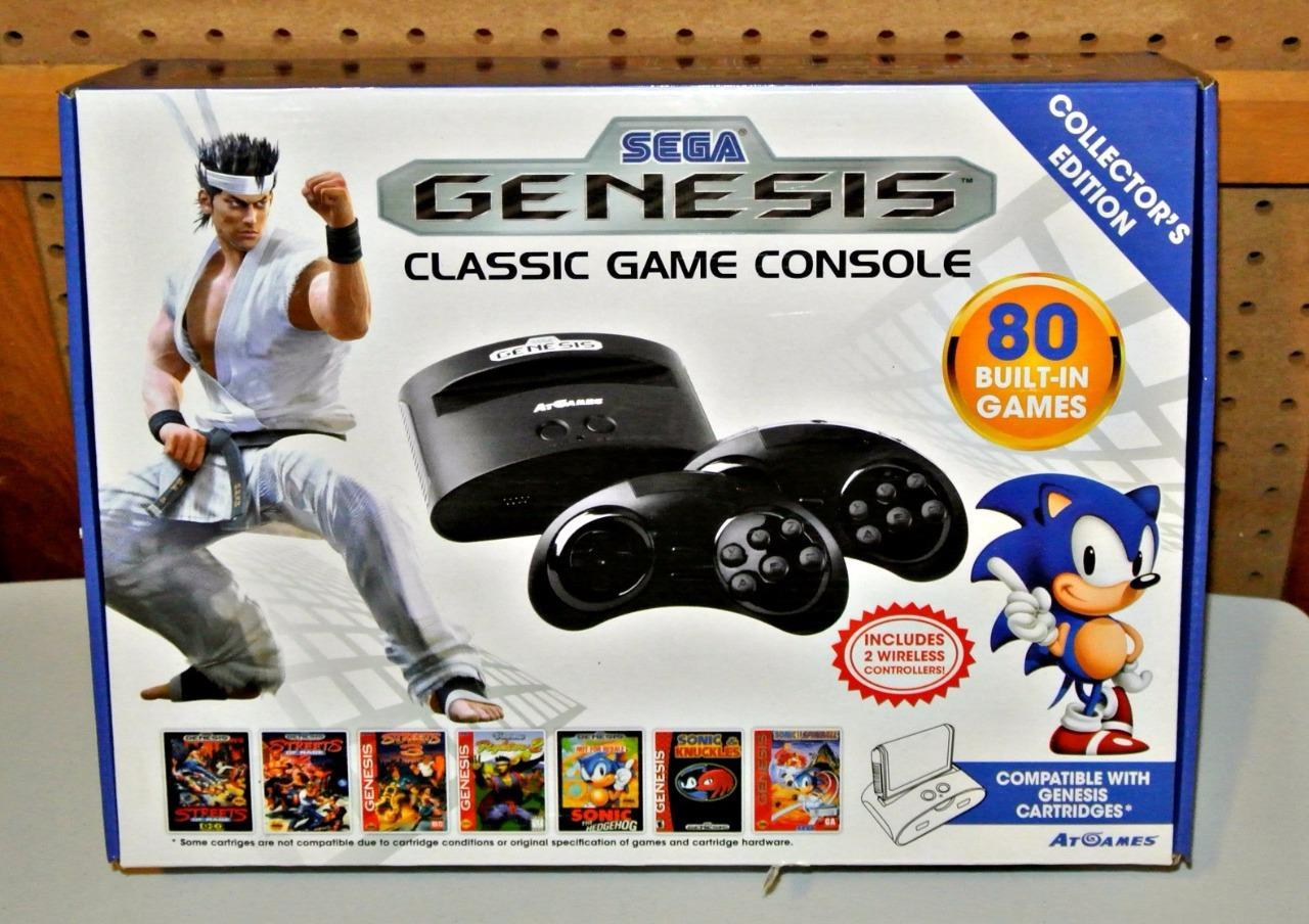 Sega genesis classic console plug n play 80 built in games - Sega genesis classic game console games ...