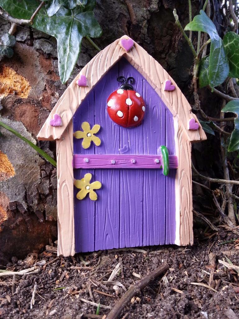 Magical fairy door garden home ornament faerie pixie for Fairy door pattern