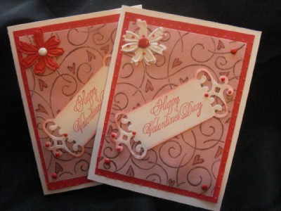 Lot Handmade Valentines Day Cards Stampin Up Prima CB
