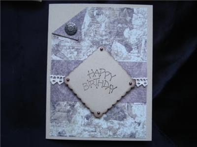 Handmade Masculine Birthday Card Browns Stampin Up