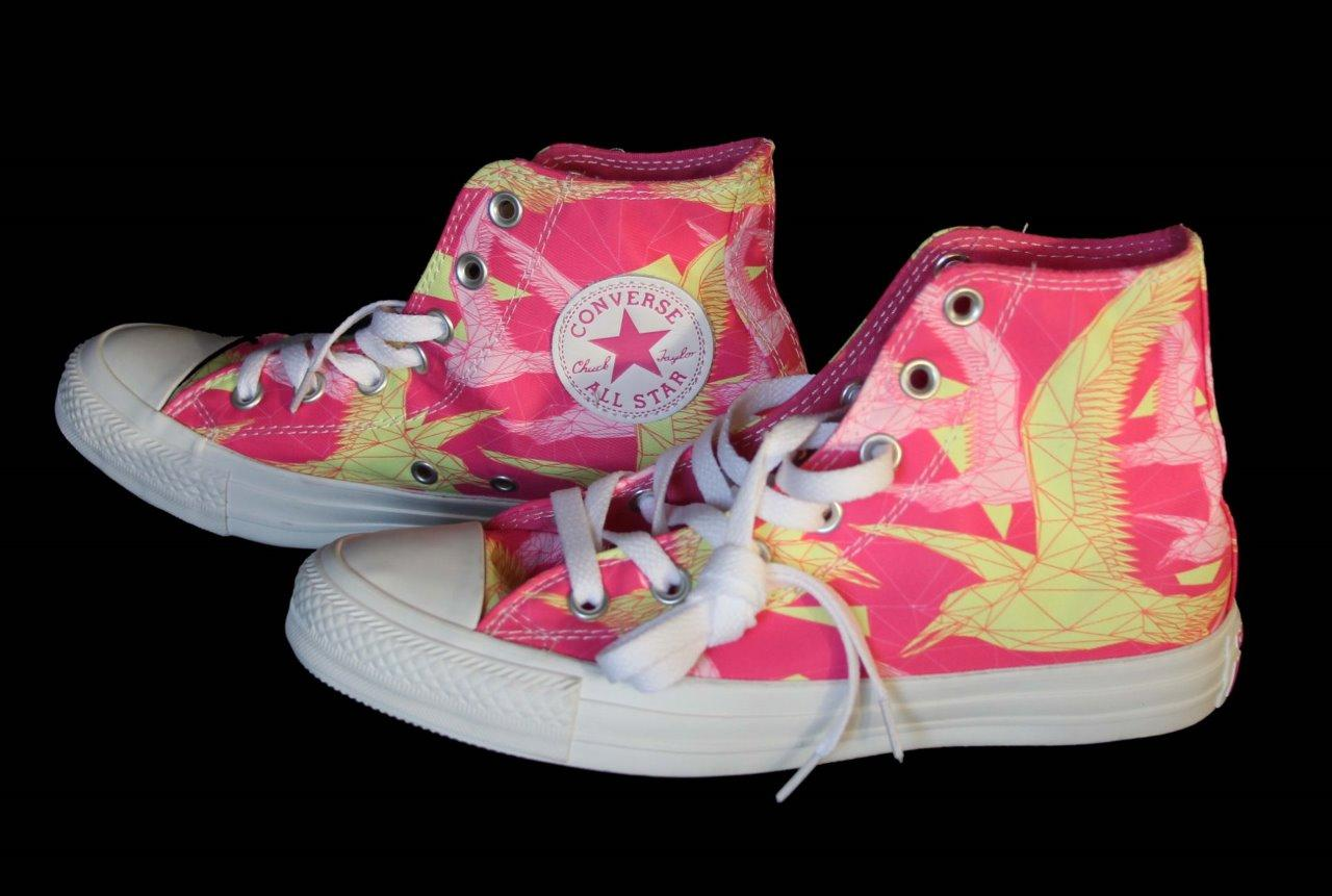 Neon Pink Converse Shoes