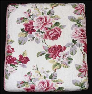3pc Laura Ashley Lidia Roses Or Peony Garden Reversible Quilt Coverlet Shams Nip Ebay