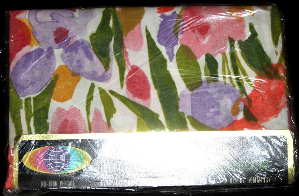 Vtg Sheet Twin Full Queen King Floral Varied Designs U