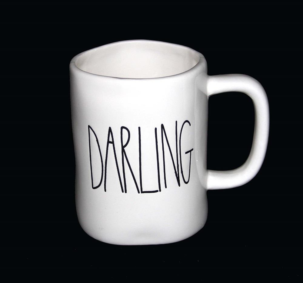 LRG Magenta RAE DUNN Script Uneven Unique Mugs Various