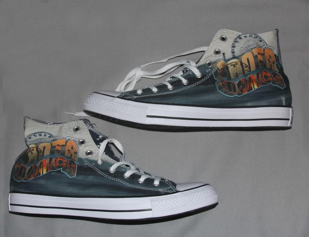 cfef93b8548 Converse Greetings from SANTA MONICA Lined High Tops Shoes