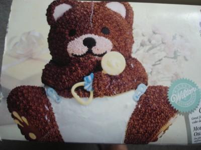 Wilton Teddy Bear Panda Baby Shower 3 D Cake Pans 3d