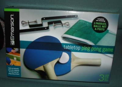 New Emerson Table Tennis Top Ping Pong Game Set Paddles Balls Net
