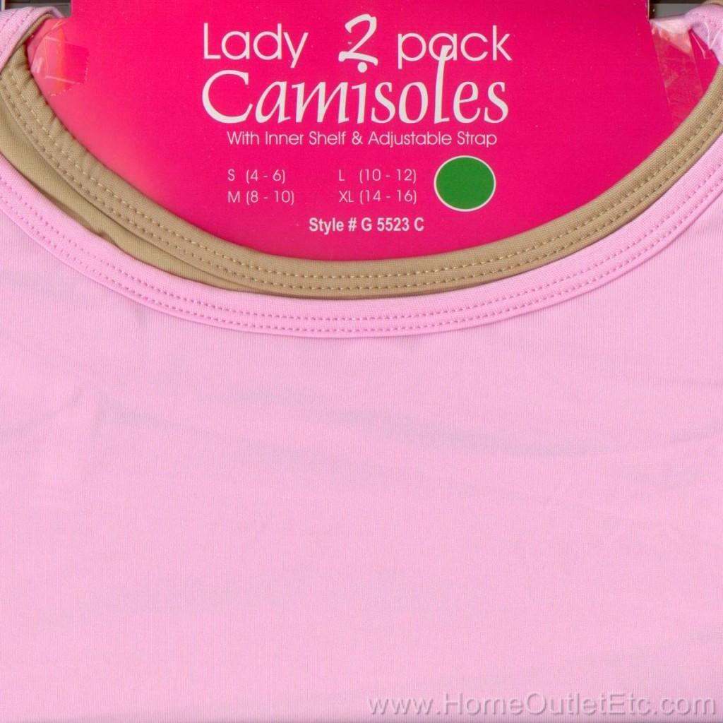 WOMENS 2 Pack CAMISOLES Cami Shirt Tank ASSORTED COLORS