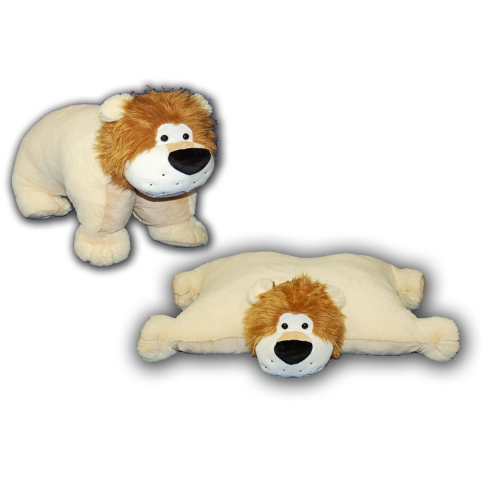 The Authentic Pillow Chums Cuddly Plush Foldable Cuddle Pet Stuffed Animal 9.5