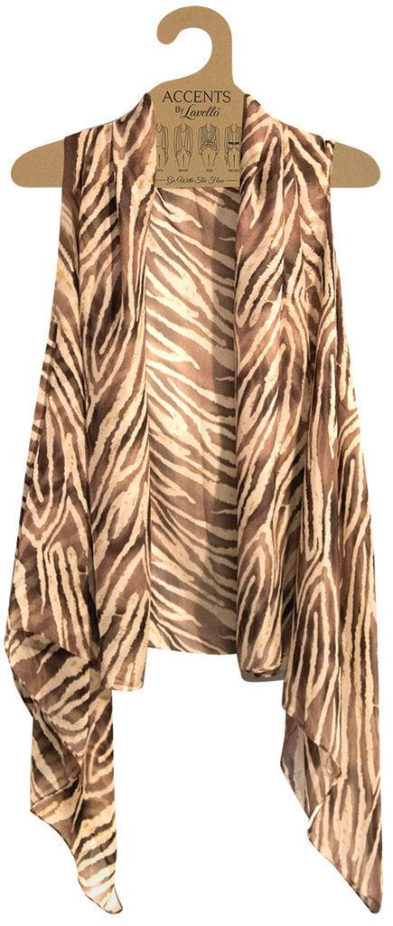 Accents-by-Lavello-Chiffon-Vest-Top-Scarf-Wrap-NWT