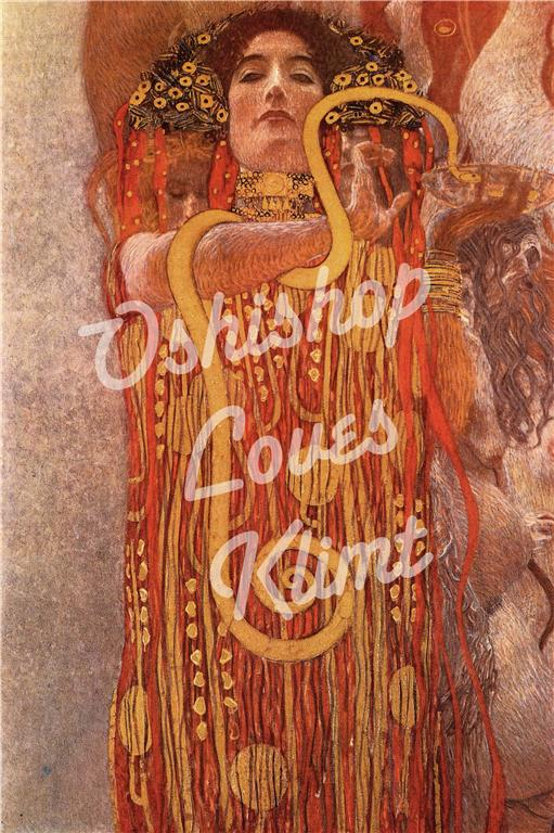 ... Gustav Klimt called Hygieia from his mural Medicine. Wonderful gift