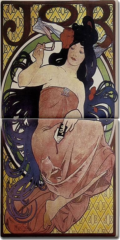 art nouveau furniture reproductions. of an Art Nouveau poster