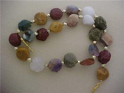 Agate Necklace Several Types Amp Colors Green Red Brown Blue