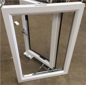 New upvc triple glazed window frame rosewood out white for New upvc door and frame