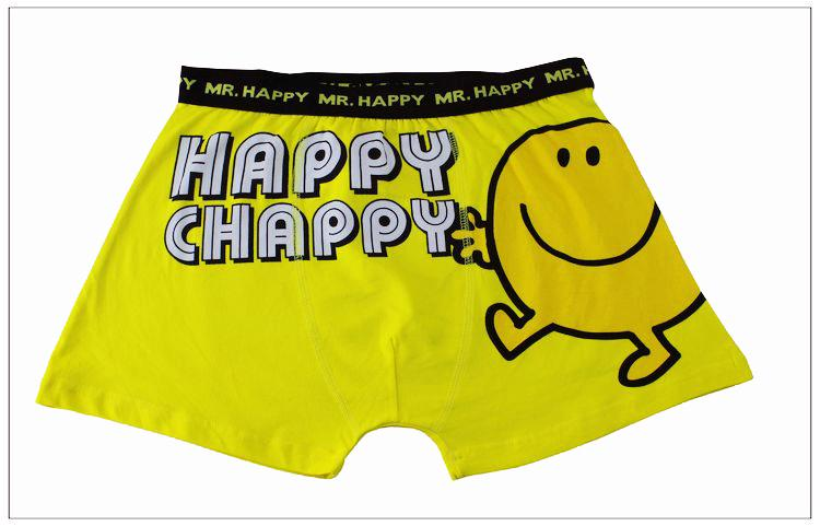 Cartoon Characters Underwear : Mr happy disney mens cartoon character boxer shorts