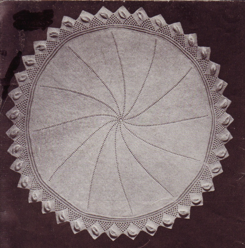 Knitting Patterns For Circular Shawls : VINTAGE SHAWL round 3ply baby knitting pattern eBay