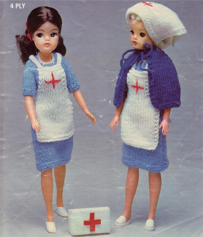 Free Knitting Pattern Nurse Doll : NURSE PATTERN - Sindy / Barbie - doll knitting pattern eBay