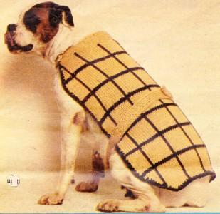 Boxer Dog Coat Knitting Pattern : DOG COAT Boxer or Large dog / quick knit - dog coat ...