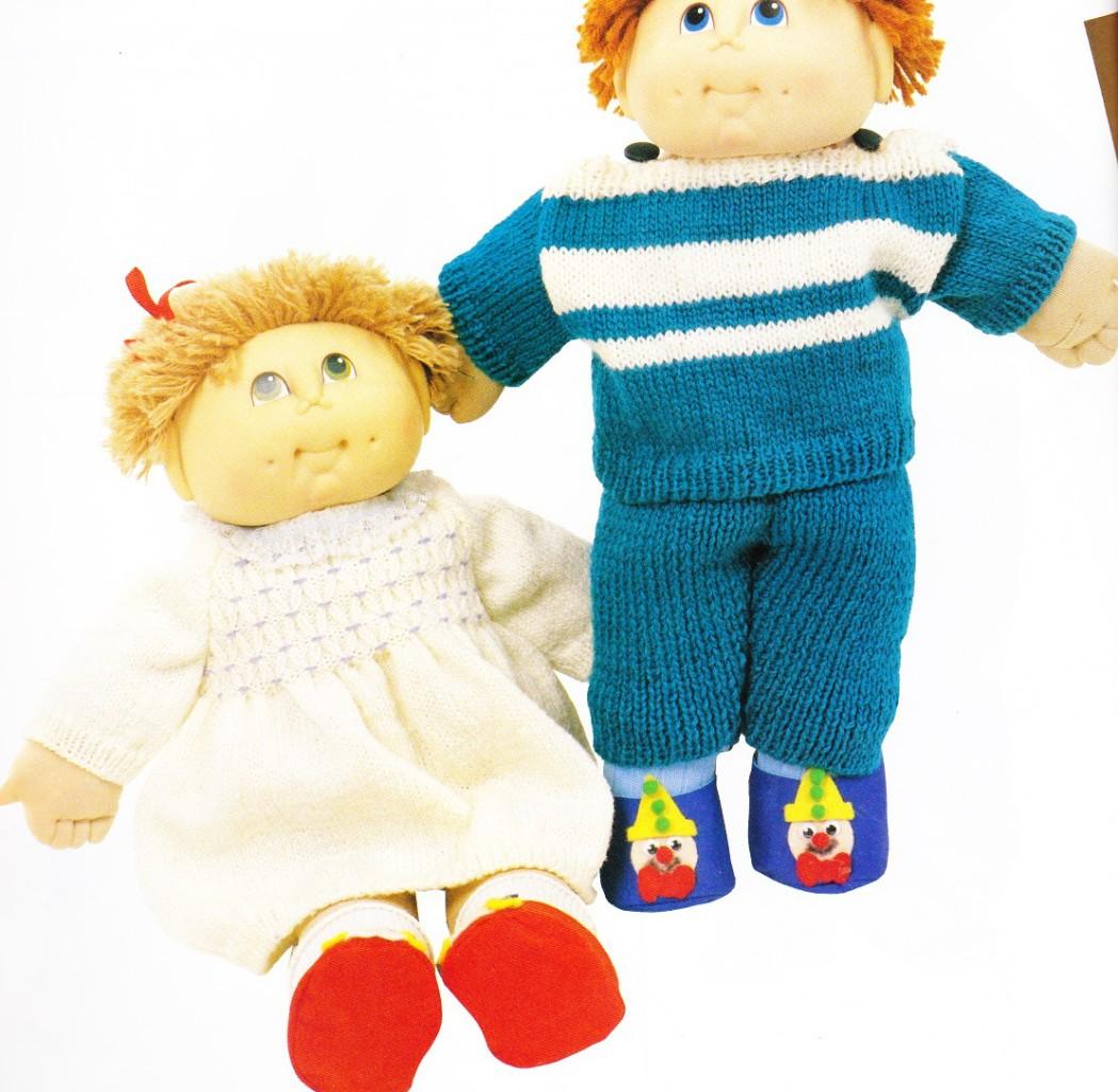 CABBAGE PATCH boy girl set doll knitting patterns eBay