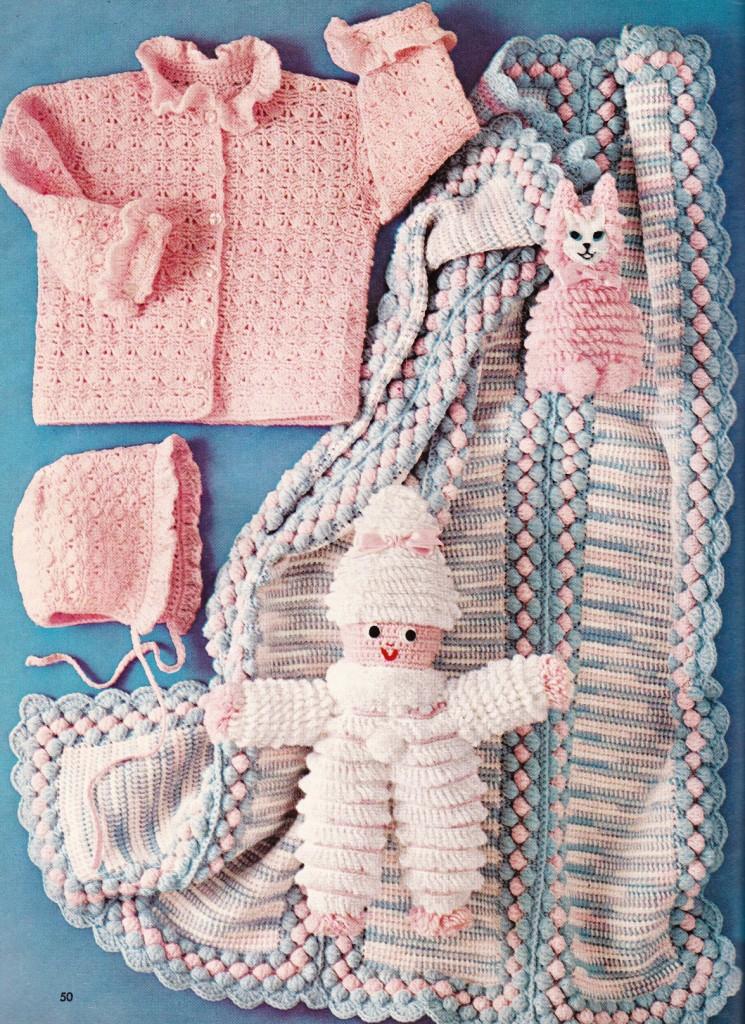 Vintage Baby Set Afghan Toys Baby Crochet Pattern Ebay