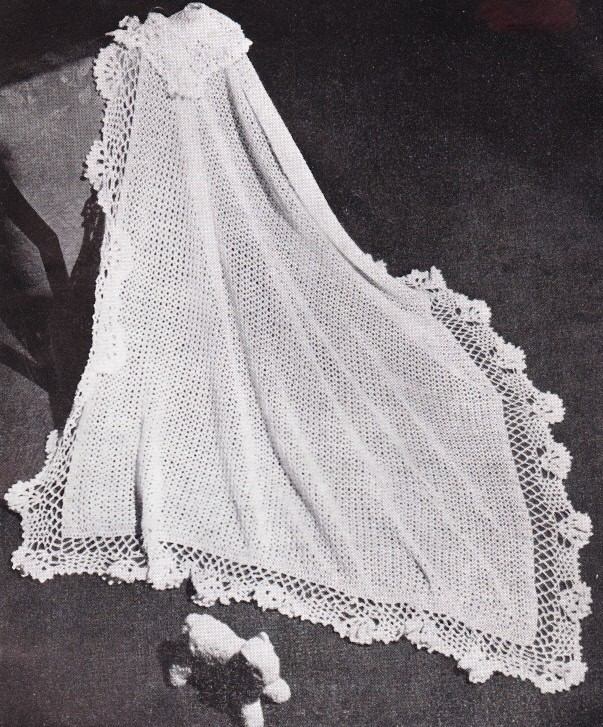 Free Vintage Crochet Baby Shawl Patterns Traitoro For