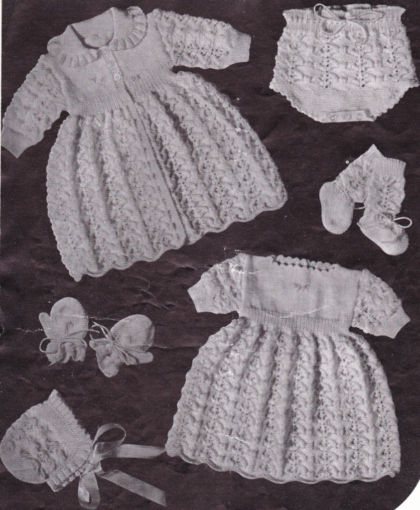Free Vintage Baby Layette Knitting Patterns: Knit this adorable baby ...