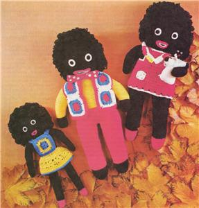 GOLLIWOG GOLLY FAMILY knitting crochet pattern eBay