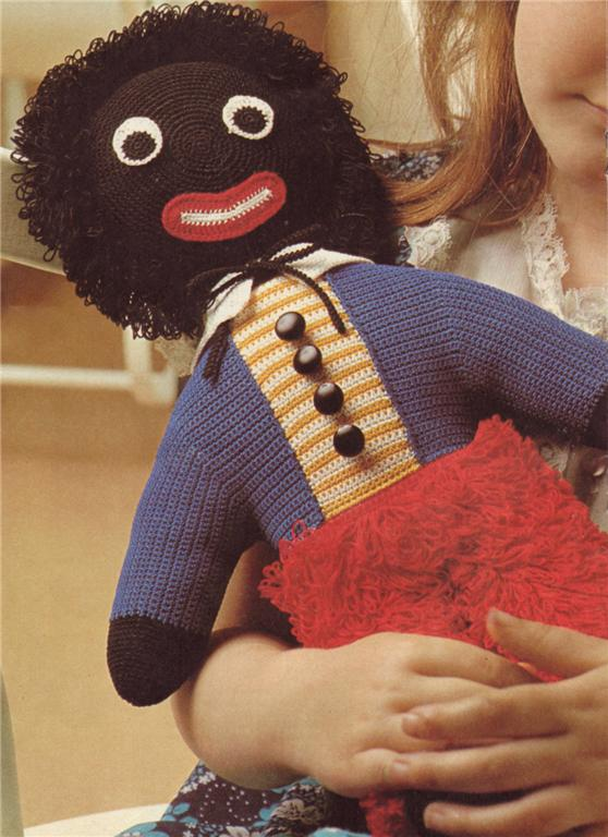 Free Golly Knitting Patterns : GOLLIWOG-GOLLY-42cm-golliwog-crochet-pattern