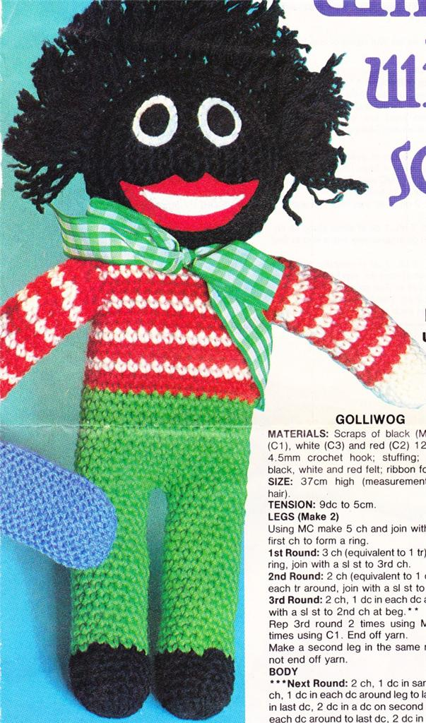 Exelent Golliwog Knitting Patterns Collection Easy Scarf Knitting