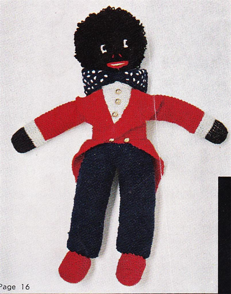 Knitted Golliwog Pattern : 20 GOLLIWOG Golly 8ply or D K toy knitting pattern eBay