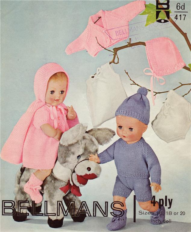 Knitting Patterns For 16 Inch Dolls : BABY DOLL - 16,18 & 20 inch - doll knitting pattern eBay