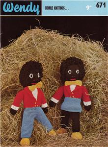 Details about BOY & GIRL GOLLIWOG / 8ply - toy knitting pattern