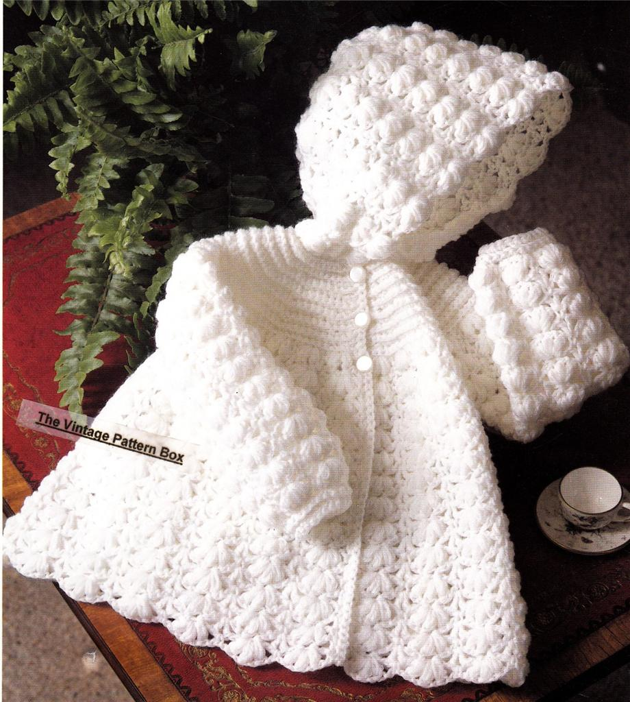BABY HOODED JACKET / 4ply - 3 to 12 months .- baby crochet ...