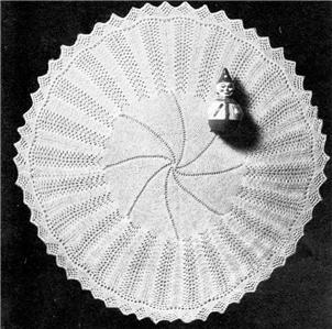 Knitting Pattern Baby Shawl 4 Ply : VINTAGE SHAWL ROUND - baby knitting pattern