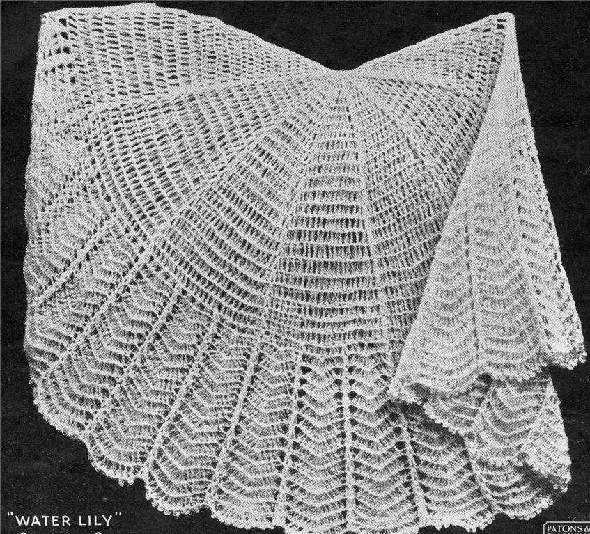 Crochet Patterns For Shawls Vintage : VINTAGE SHAWL ROUND / 2ply - baby crochet pattern eBay