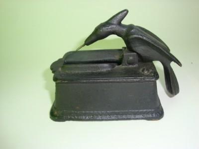 Cast Iron Woodpecker Toothpick Holder Iron Art Ebay