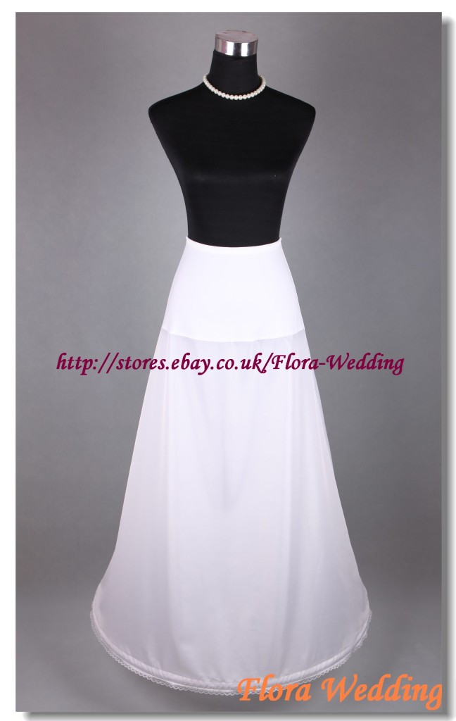 1-Hoop-Lycra-Waist-Wedding-Prom-Petticoat-Single-One-Hoop-Crinoline-Underskirt