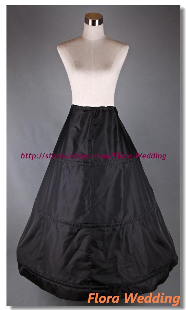 3-HOOP-WEDDING-PROM-PETTICOAT-UNDERSKIRT-CRINOLINE-S-XL