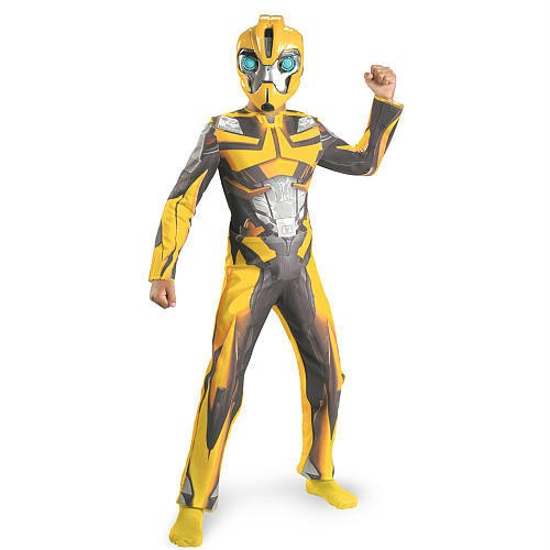 Transformers bumble bee costume dress up size 4 6 7 8 10 12 boys mask
