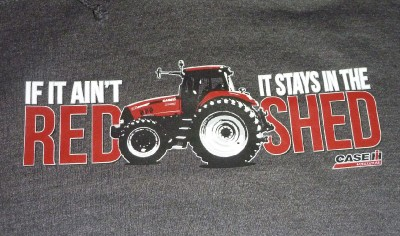 Mens Case IH Hoodie If It Ain'T Red Stays in Shed Size Large