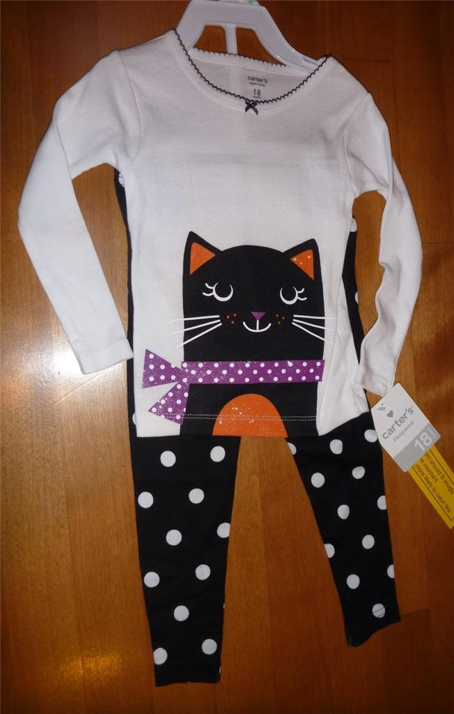 NWT Girls Boys CARTER'S HALLOWEEN Pajamas size 18 24 Mo 2T PJs ...
