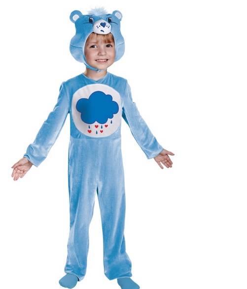 Toddler Boys Girls Blue Grumpy Bear Care Bears Costume