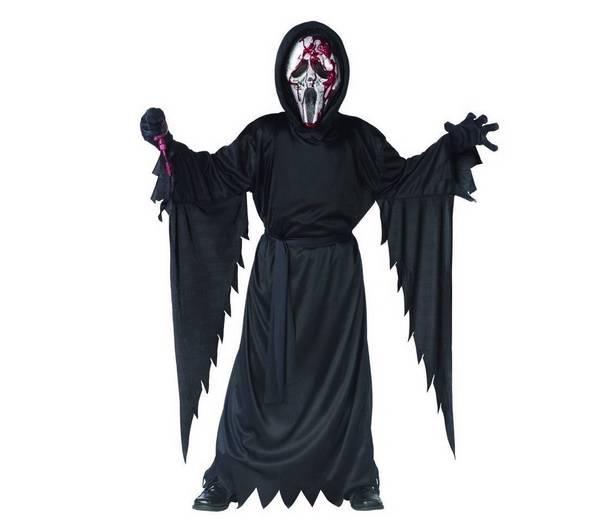 new boys bleeding scream ghost face costume dress up size