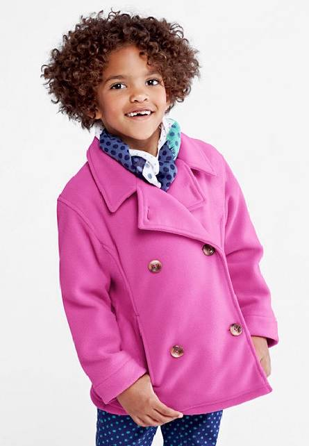 NIP-Girls-LANDS-END-Fleece-PEACOAT-dress-coat-Size-5-6-6X-7-14-16-Blue ...