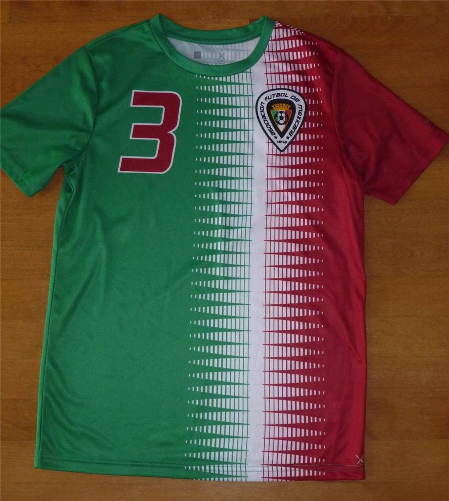 Boys usa spain team soccer futbol jersey shirt size 10 12 for Boys soccer t shirts