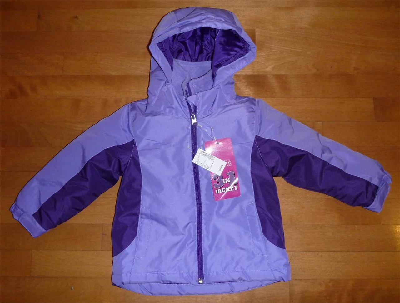Girls 3 in 1 CHILDRENS PLACE Winter Coat Ski Jacket Size