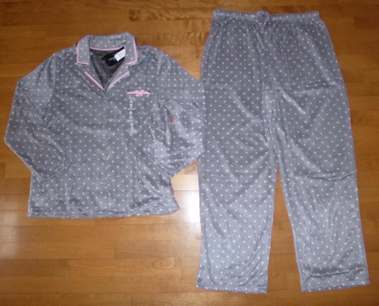 Women EARTH ANGELS Micro Fleece Pajamas PJs Set Size S M L XL XXL Top Pants NWT