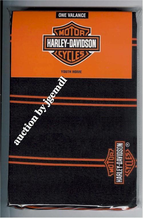 harley davidson flame fireball window curtain valance ebay. Black Bedroom Furniture Sets. Home Design Ideas