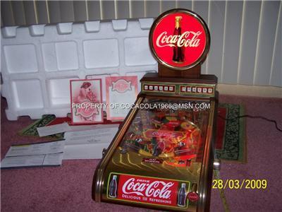 franklin mint coca cola pinball machine